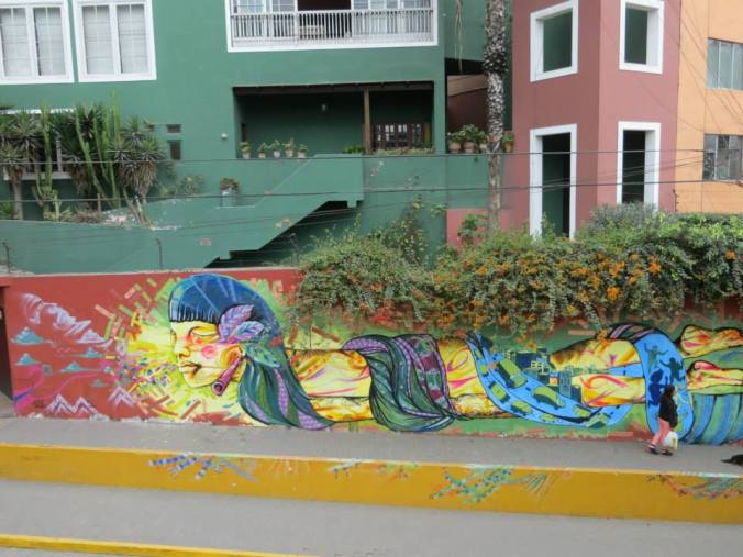 Street art in hipsterrific Barranco. Yes, we have our own species of hipsters here.