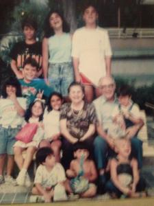 Me, my grandparents, and my Venezuelan cousins. We would double in size, numbers-wise, in the following decade. Cause we just love fulfilling Latino stereotypes.